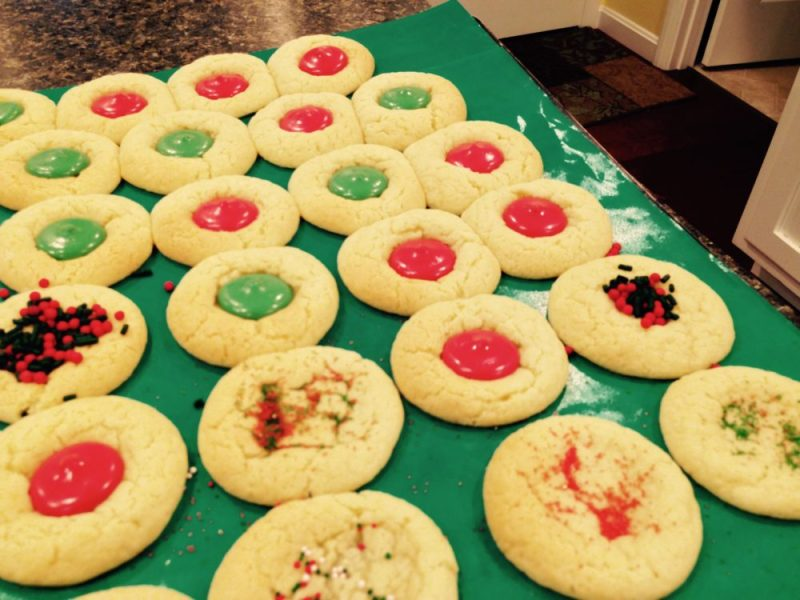 Christmas sugar cookies.