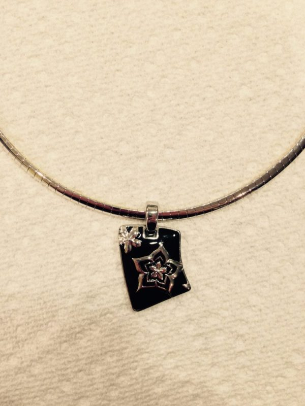 Premier Designs reversible gold/silver chain with pendant