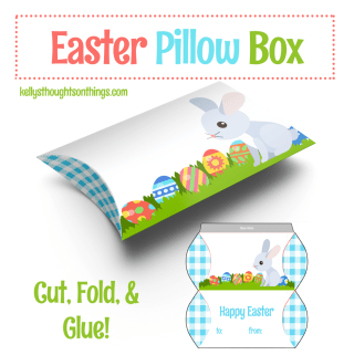 How To Make A Cute Easter Pillow Box