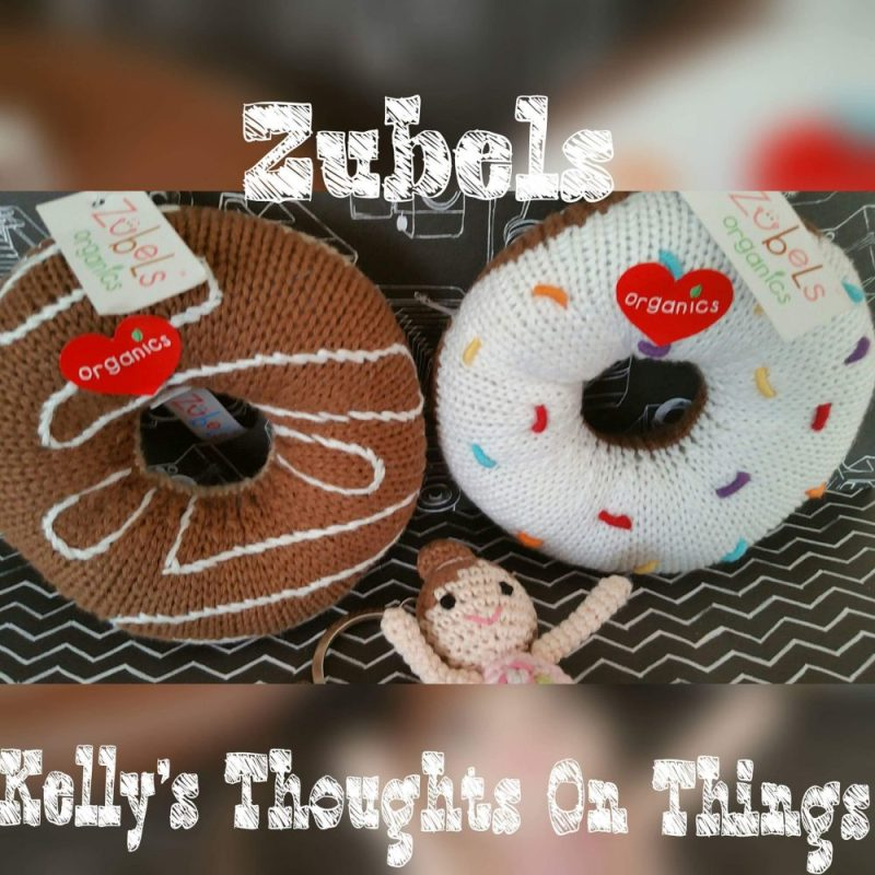 100% cotton organic rattle donuts by Zubels