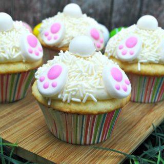 Indulging White Bunny Tail Cupcakes Recipe