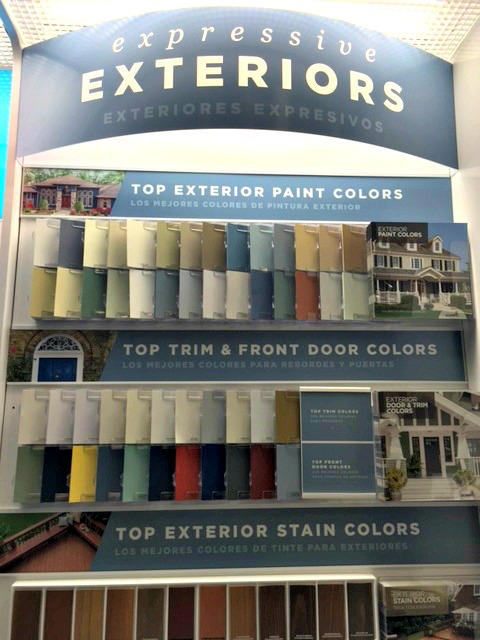 Olympic Paint Display-at Lowes