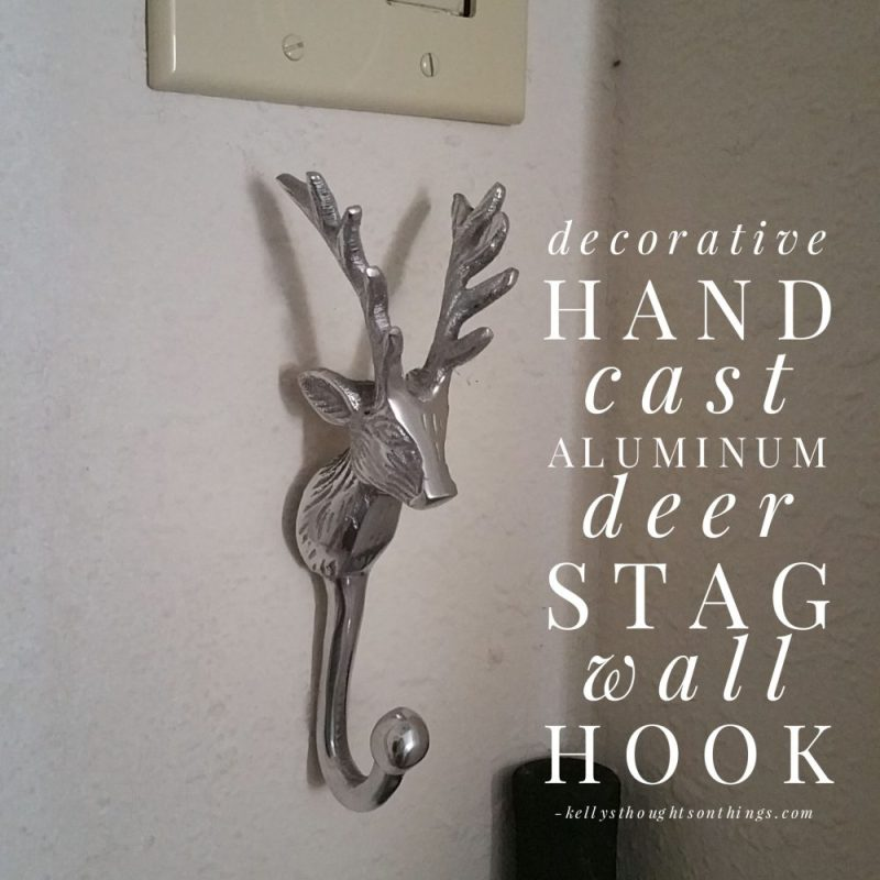 Decorative Hand Cast Aluminum Deer Stag Wall Hook