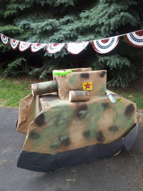 Eliza E cardboard Tank HOW to