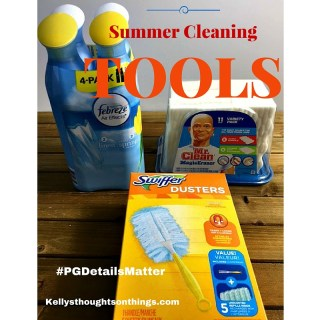 Summer Cleaning Tools and CheckList #PGDetailsMatter