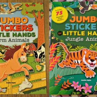 Jumbo Stickers for Little Hands Farm Or Jungle Animals