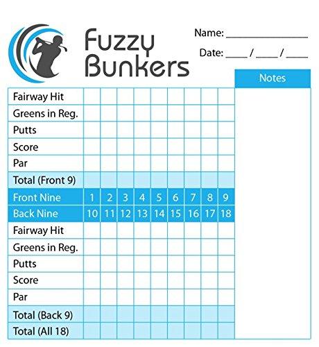 Fuzzy Bunkers Golf Scorecard Holder