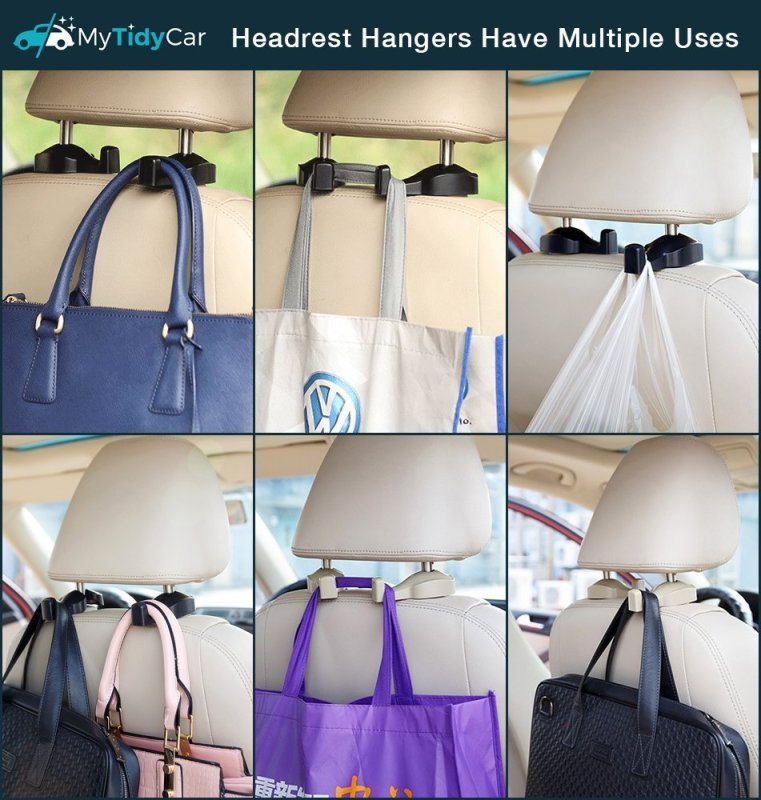 MyTidyCar Car Headrest Hanger Hook