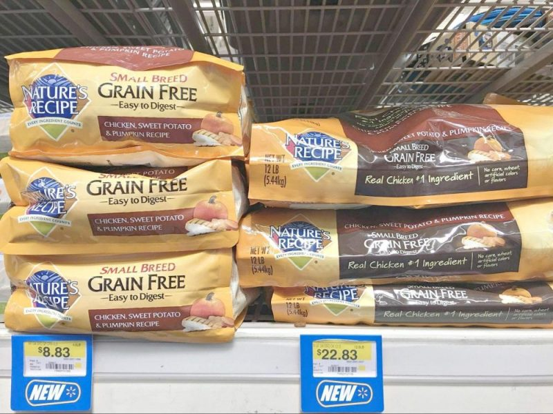 Nature's Recipe Dog Food is now available at Walmart stores.