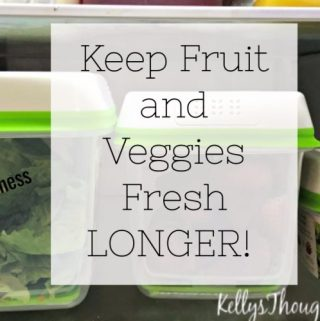 Keep Fruit and Veggies Fresh LONGER! #FreshWorksFreshness (Plus Giveaway)