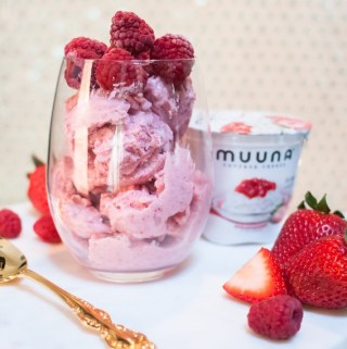 For National Ice Cream Day 7/16/17- Pink Berry Nice Cream Recipe!
