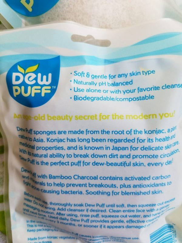 Back To School: The Dew Puff konjac sponge is the best way to wash and exfoliate your skin at night.