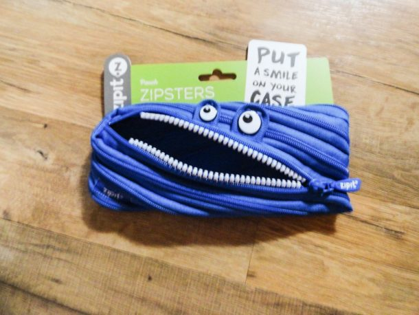 monster pouch for school supplies