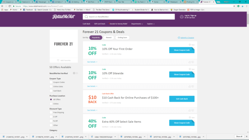 """My Favorite Way To Find """"Forever 21"""" Promo Codes"""
