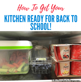 How To Get Your Kitchen Ready For Back To School!