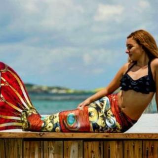 Mermaid Tails Get Into Halloween Spirit