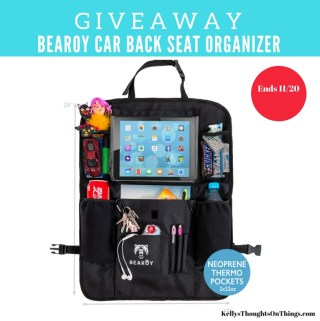 Kick The Car Clutter Away With Bearoy Car Back Seat Organizer