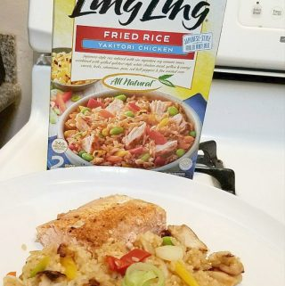 #ad Baked Salmon and Ling Ling Fried Rice -2 OFF A BOX OF LING LING FRIED RICE  #LingLingFriedRice #IC