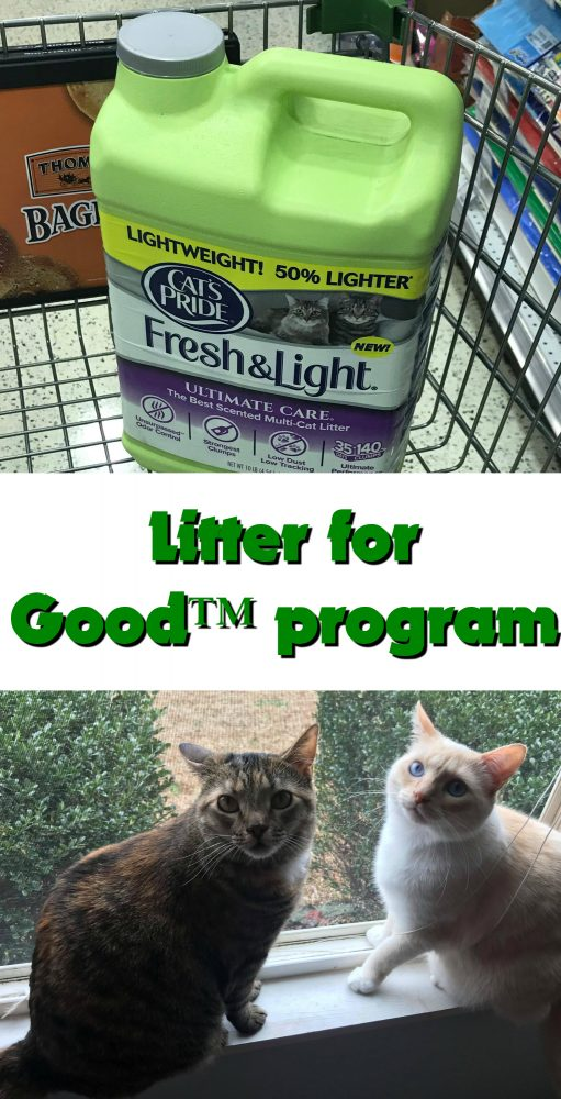 For every Cat's Pride Litter Fresh & Light® bought then a pound of Litter will be donated to local shelter. You can even nominate your local shelter by signing up for the free • Cat's Pride® Club, which also has coupons and cat tips. #CatsPride #LitterForGood #ad https://ooh.li/3ec0dd2