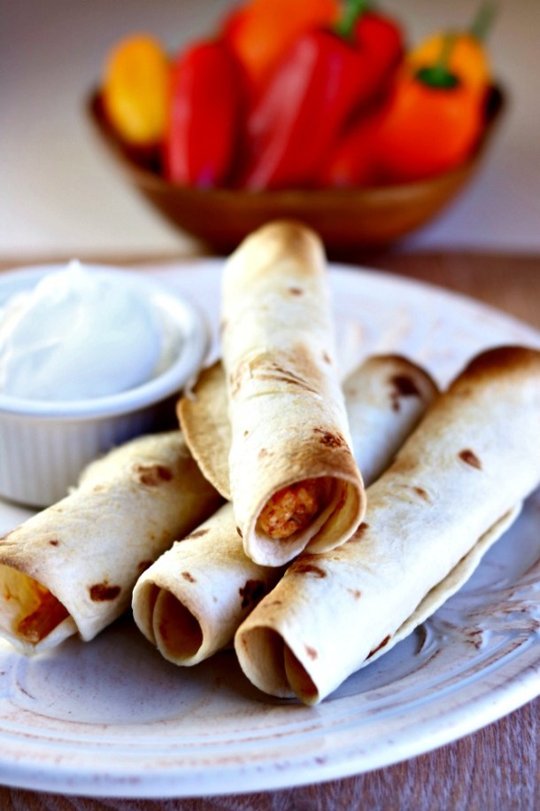 Air Fryer Rotisserie Chicken and Cheese Taquitos