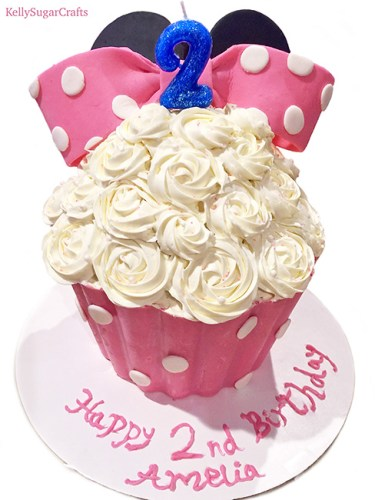 Cool Giant Minnie Mouse Cupcake Kelly Sugar Crafts Funny Birthday Cards Online Barepcheapnameinfo