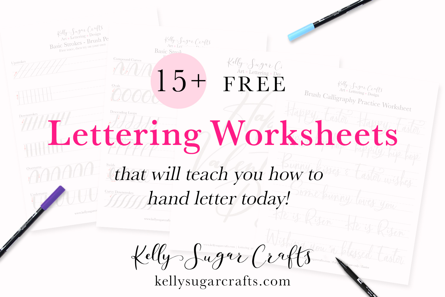 15 Free Lettering Worksheets That Will Teach You How To Letter Kelly Sugar Crafts