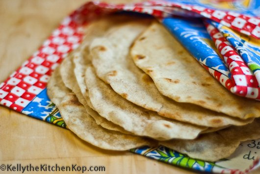 Homemade Soaked Flour Tortillas