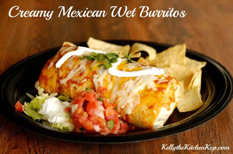 Creamy Mexican Wet Burrito