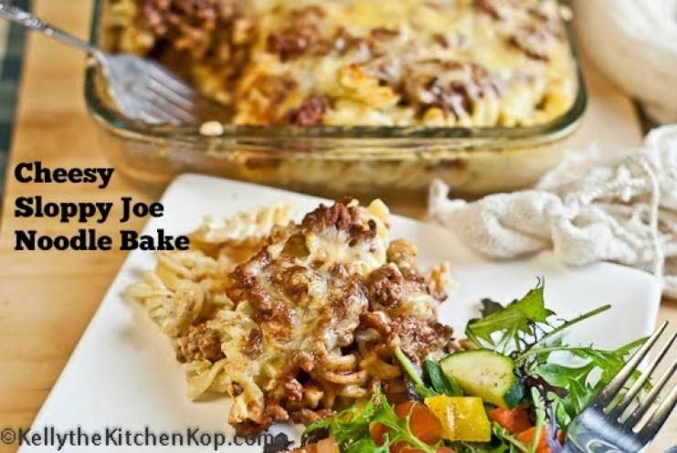 Cheesy Sloppy Joe Noodle Bake