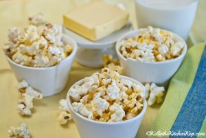 healthy popcorn made with coconut oil