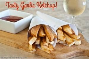 garlic ketchup-fries