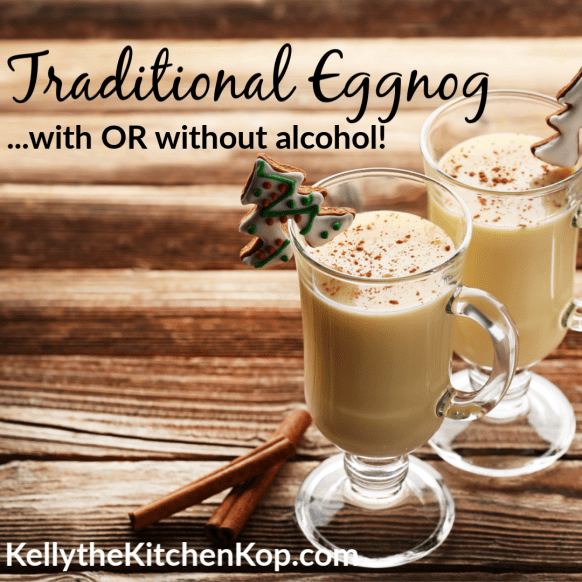 Traditional Eggnog Recipe with or without Alcohol