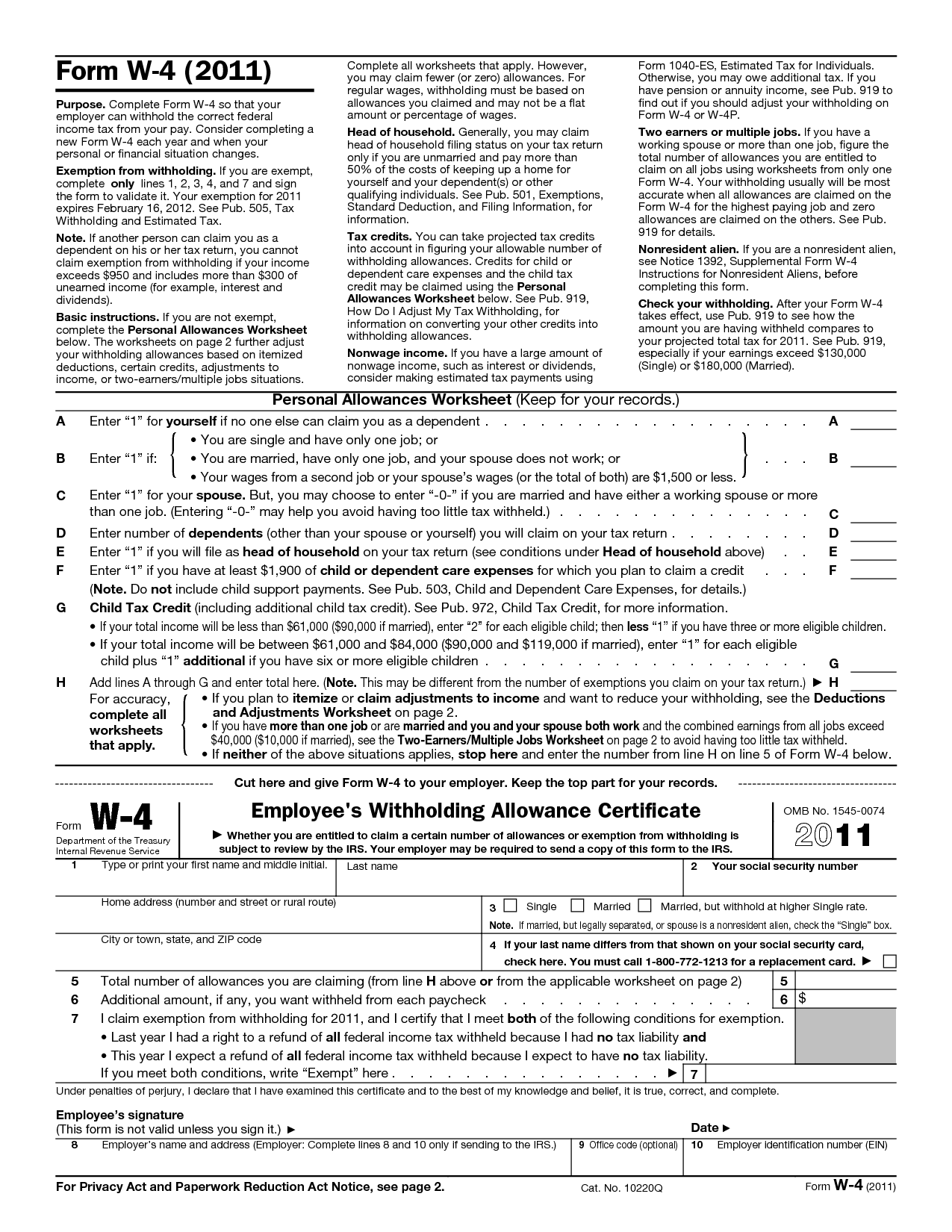 Tweak Your Withholding Taxes Filing A New W 4 Form With