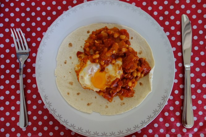 Heuvos rancheros made by my sister under my instruction!