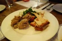 Lemon & thyme chicken wings, fattoush, pita bread