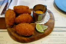 Louisiana salted cod croquettes w remoulade sauce