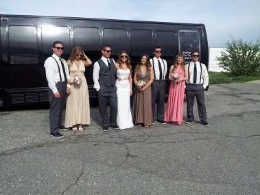 LimoBus Wedding pic