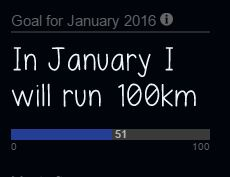 January 100km goal