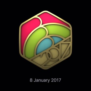 Apple ring in the new year badge