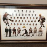 """Minnesota Gophers Hockey """"Legends on Ice"""" print, signed by Gopher hockey greats."""