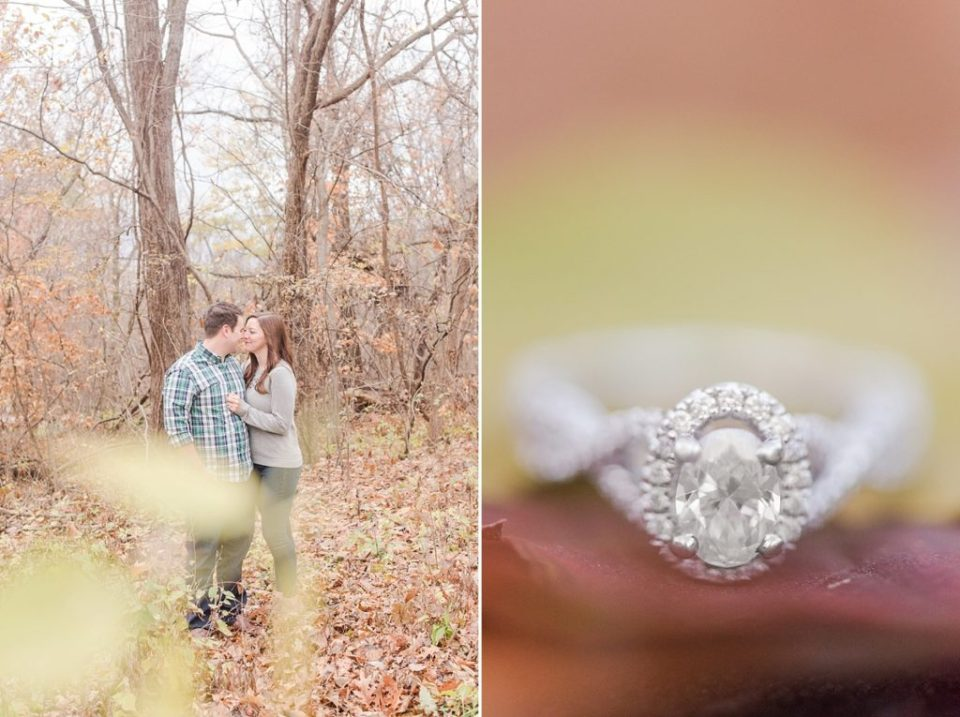 Weston Bend State Park fall engagement session