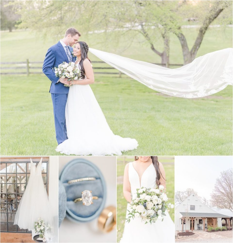 Dusty blue and gold wedding inspiration kcmo wedding photographer