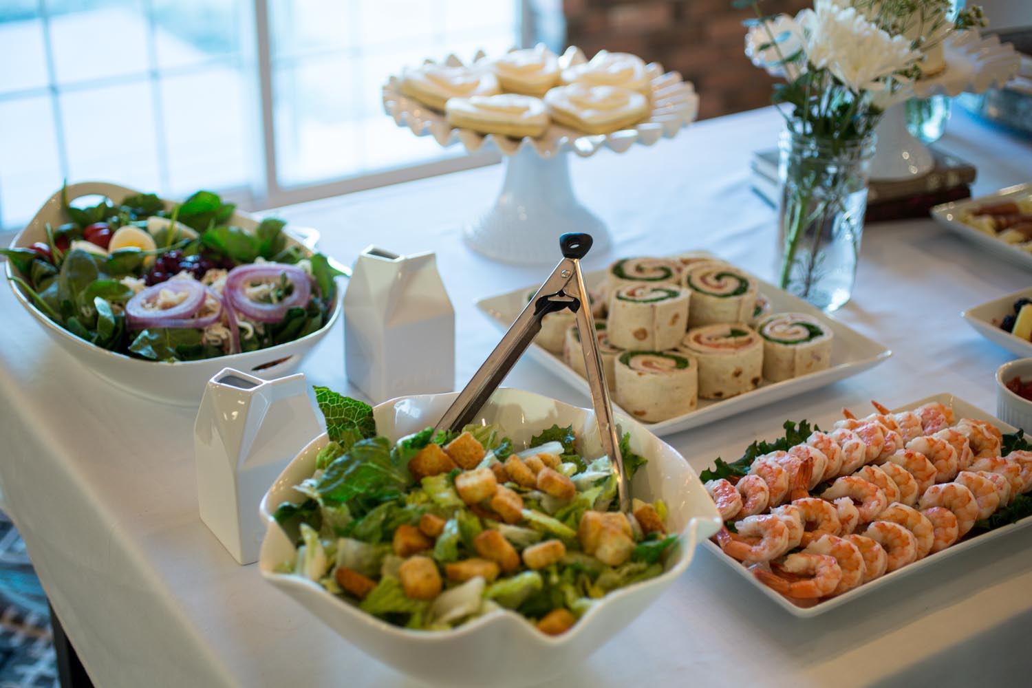 Gold, Pink And White Bridal Shower Party