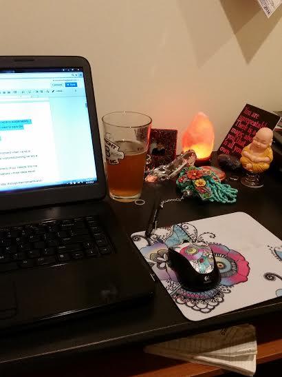 My writing altar -- where the creative magic happens.