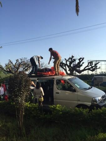 Tesefay and Max load up the van