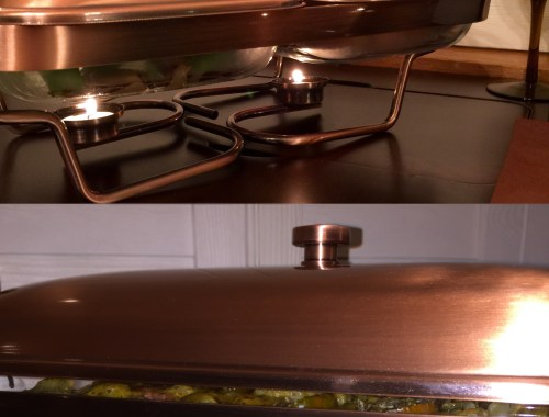 Decorative chafing dish