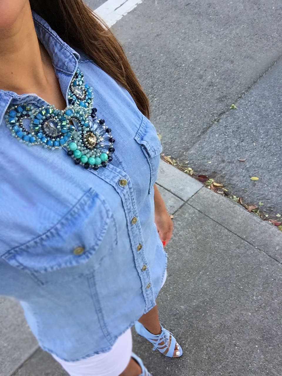 Chambray shirt for spring