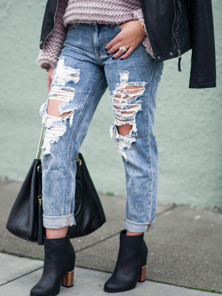 destroyed girlfriend jeans