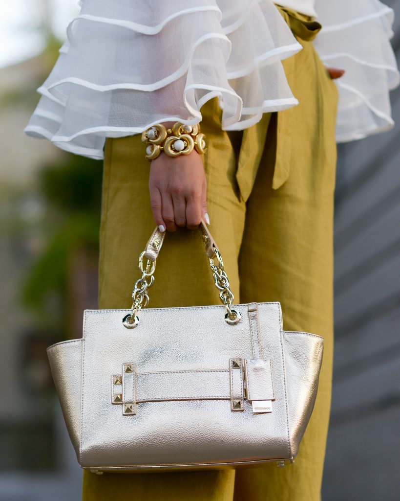ruffles and gold