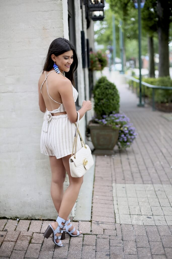 Lifestyle blogger Kelsey Kaplan of Kelsey Kaplan Fashion wearing two-piece set and tassel earrings